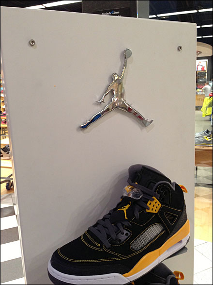Air Jordan Logo As Display Bling Fixtures Close Up
