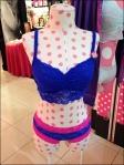 Polka Dot Lingerier Dress Form Closeup
