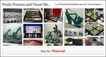 Prada Fixtures and Visual Merchandising on Fixtures Close Up Pinterest Board