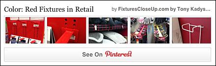 Red Fixtures in Retail Pinterest Board as FixturesCloseUp
