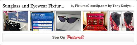 Sunglass and Eyewear Merchandising Pinterest Board for Fixtures Close Up