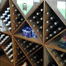 Wine Bottles in Diagonal CloseUp