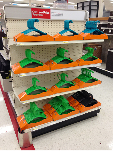 Clothes Hangers Dominate EndCap Main
