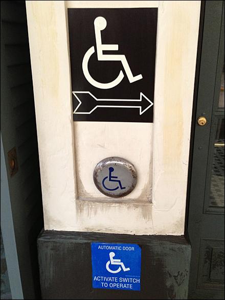 Handicapped Not Blind Triple Sign