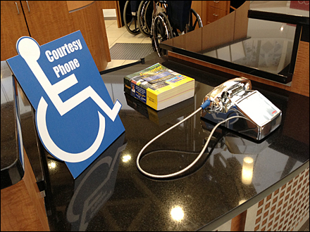 Mall Handicapped Courtesy Phone