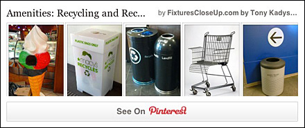 Recycling and REcycled Fixtures Pinterest Board