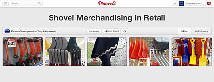 Shovel Merchandising in Retail Pinterest Board