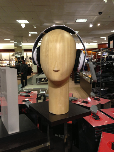 Wood Headphone Headform Overall