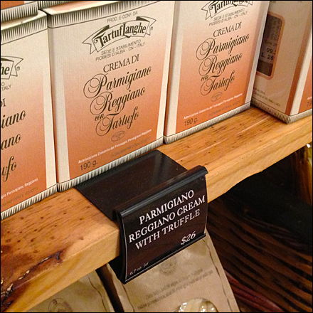 Wood Shelf Label w Black Label