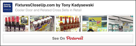 Cooler Door and Related Cross Sells Pinterest Board on Fixtures Close Up