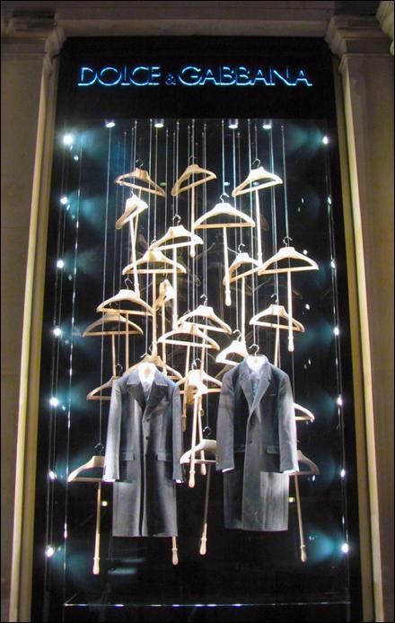 Dolce Gabbana Hanger D Window Fixtures Close Up Retail Pop