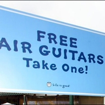 Free Air Guitars, Take One! Life is Good