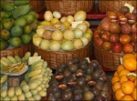 Fruit in Wicker with Cut Samples Aux