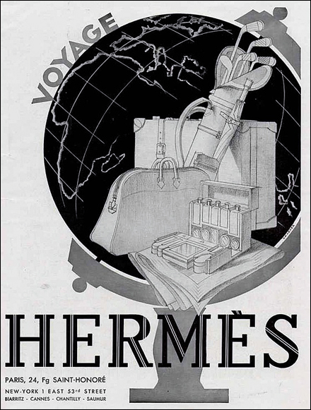 Hermes Art Deco Travel Luggage Poster1