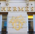 Hermes Building Side Logo Detail