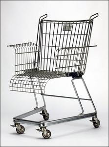 Metal-Off-Main Shopping Cart Wheelchair