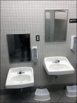 Restroom Sinks Scaled for User Size Aux