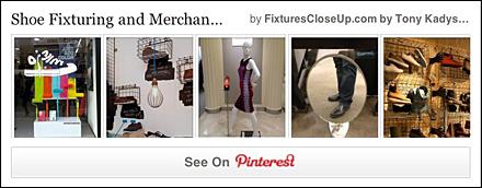 Shoe Fixtures and Merchandising Pinterest Board