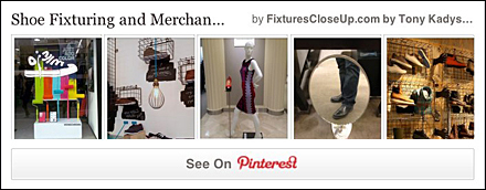 Shoe Fixtures and Merchandising Pinterest Board