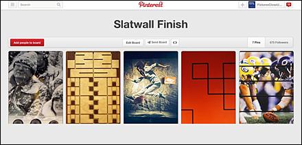 Slatwall Finish Pinterest Board