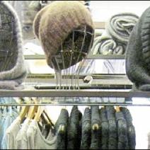 Wire Headforms as retail merchandising store fixtures