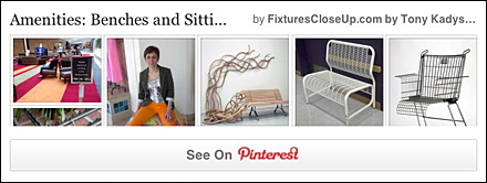 Benches and Sitting Areas Pinterest Board on FixturesCloseUp