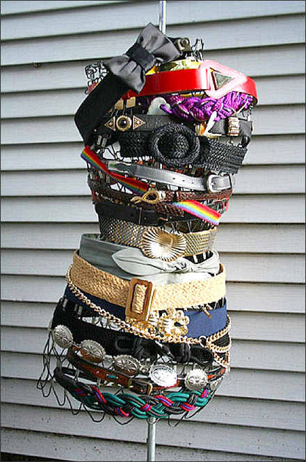 Dress Form Belt Bondage Display