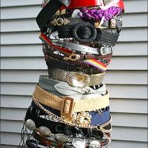 Dress Form Belt Bondage Display