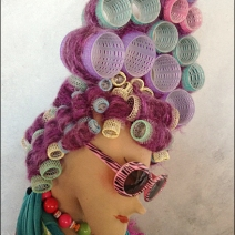 Hair Dresser Window Dressing CloseUp