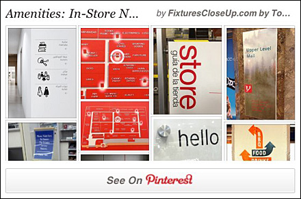 In-Store Wayfinding and Navigation Pinterest Board