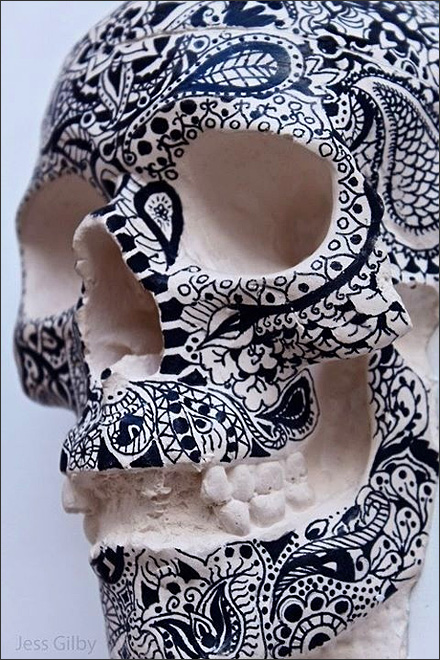 Inked Skull by Jess Gilby