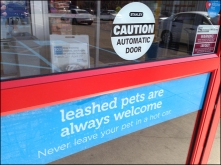 Pets Welcome In Store Aux Overview