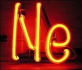 Symbol Ne for Neon