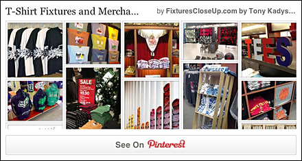 T-Shirt Merchandising and Fixtures Pinterest Board