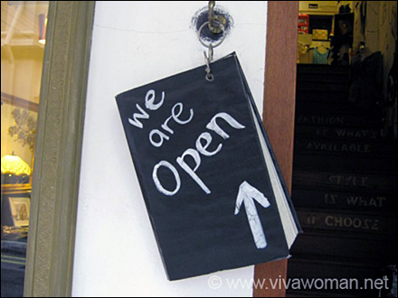 We Are Open Sign