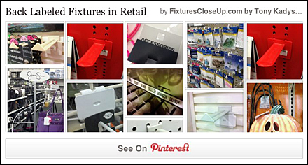 Back Labeled Fixtures In Retail Pinterest Board for Fixtures Close Up