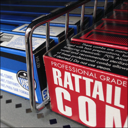 Fencing Rattail Combs CloseUp