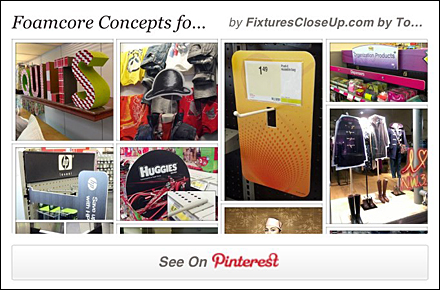 Foamcore Pinterest Board for Fixtures Close Up