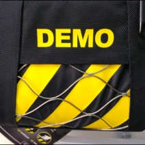 PacSafe Try Me Demo Zebra Stripe Main