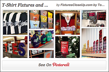 T-Shirt Fixtures and Merchandising Pinterest Board