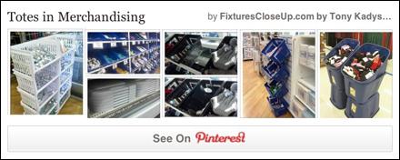 Totes in Retail Merchandising Pinterest Board on FixturesCloseUp