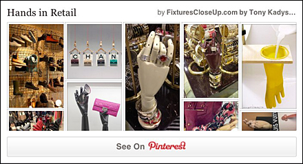 Hands in Retail Pinterest Board for Fixtures Close Up