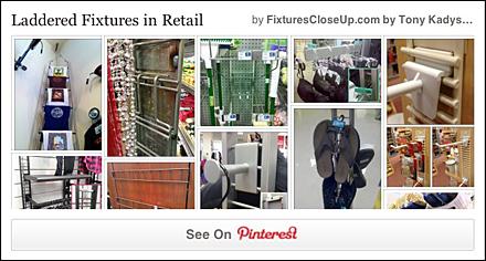 Ladder Fixtures in Retail Pinterest Board for FixturesCloseUp