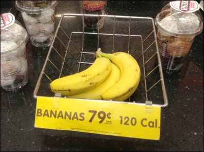 Wire Banana Basket at Cashwrap Detail