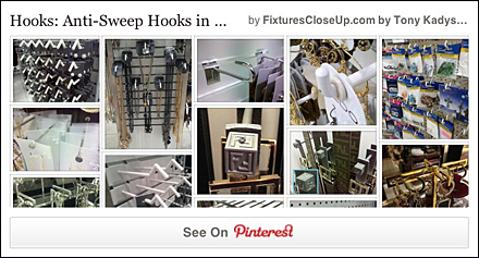 Anti-Sweep Hooks Pinterest Board for FixturesCloseUp