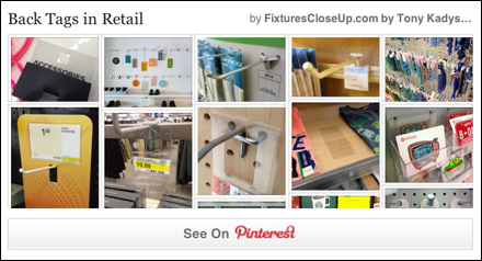 Back Tags in Retail Pinterest Board for FixturesClose Up