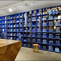Blue Jean Wall in Blue 2