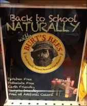 Burts Bees Apothacary Display Sign