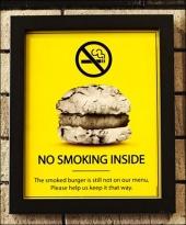 Classic Burger No Smoking Branding