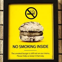 Classic Burger No Smoking Branding